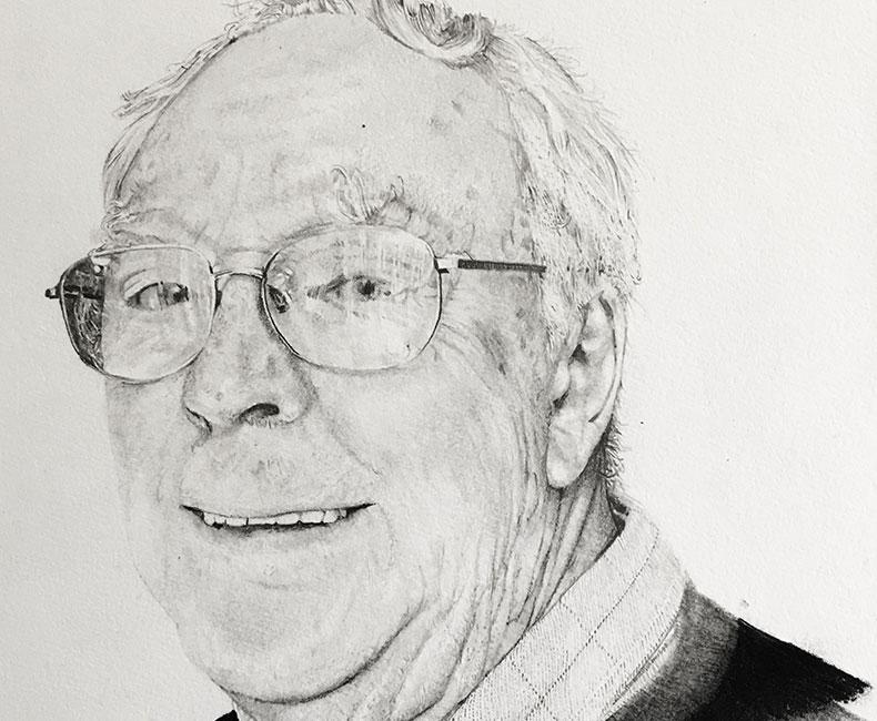 Pencil portrait of Peter