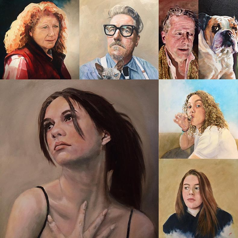 Collection of oil portraits