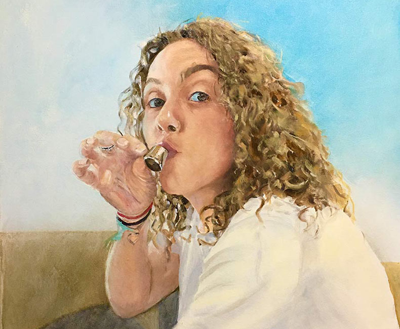 Oil portrait of Charlotte